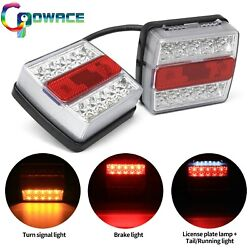 Pair Square Indicator Stop Tail Lamp Signal Tail Light For Trailertruck