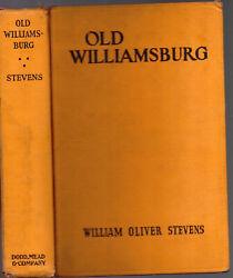 Rare 1941 1st Edition Old Williamsburg Virginia With Prints And Maps Gift Idea