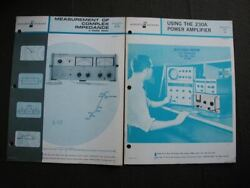 Hp Vintage 1960and039s Hewlett Packard Booklet Lot With Ring Binder