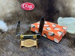 Case Xx 1970 10 Dot Canoe With India Stag Handles Mint In Case Pumpkin Box 5