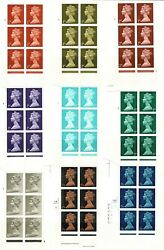 Pre-decimal Machin Cylinder Blocks. Individually Priced Andpound1.35 To Andpound225. Mnh Fine