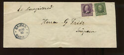 Guam Scott 3 And 10 Overprint Used Stamps On Nice Cover To Saipan Mariana Islands