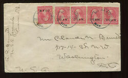 Guam Scott 2 Used Stamps On Uss Yomesite Cover Tied By Rare San Luis Dand039apra Cds