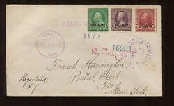 Guam Scott 1 3 6 Stamps On Registered Cover To Troy Ny 1900 Agana Guam Ccl