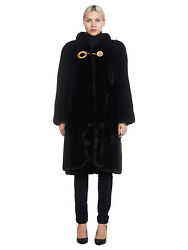Womenand039s Ranch Mink Fur Coat With Gold Closure Details