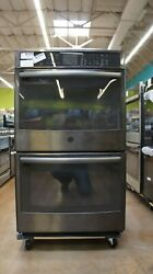 Ge Profile 30 Electric Double Wall Convection Oven   Pt7550blts   10 Cu.ft