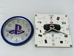 Sony Playstation 1 And Psp Launch Advertising Promo Analog Wall Clocks Rare As Is