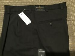 Brooks Brothers Elliott Advantage Chinos Black- Relaxed Fit Pants 36 X 30