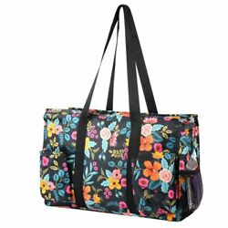 Travel Camping Shopping Zipper Utility Shoulder Tote Carry Bag Marion Floral $13.19