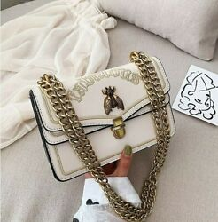 High Quality Luxury Designer Women#x27;s Chain Shoulder Crossbody Black Handbags $38.95