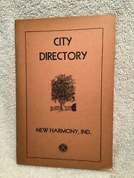 1950s City Directory Of New Harmony In Lots Of Names And Great Ads W/map Geneology