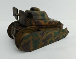 Old Wind Up Toy Tank, Tco Tipp And Co, No Maker,used, Works, For Restore, No Key