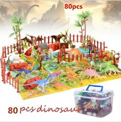 80 TOY DINOSAUR FIGURES KIDS PLAYSET DINOSAURS ASSORTMENT DINO TOYS 2quot; SIZE $26.99