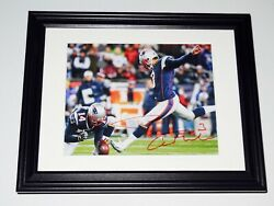 Stephen Gostkowski Autographed 8x10 Color Photo Framed And Matted - Patriots
