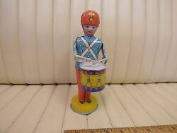 1940s J. Chein Tin Lithographed Wind Up Toy Drummer Boy