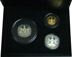 2018 Royal Wedding 3 Coin Set Gold Silver And Clad - Very Rare - Low Mintage