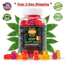 Hemp Gummies 30000mg 90For Pain Anxiety Stress Relief Made in USA ALL NATURAL