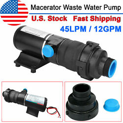 12v Dc Rv Mount Macerator Waste Water Pump 45 Lpm 12gpm For Marine Boat Industry