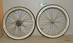 Vintage 20 Tire And Rims Front And Back 1.75 Wide 1960 - 70 Collectible Bicycle K1