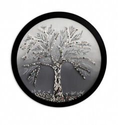 Art Deco Stylefused Glass Hand Made Round Mirror Tree