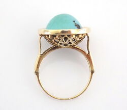 Antique Turquoise Gold Dome Solitaire Ring
