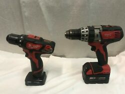 Milwaukee 2602-20 M18 1/2 Hammer Drill And2407-20 Drill/driver