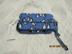 VERA BRADLEY ALL IN ONE CROSSBODY WALLET quot;PLAYFUL PENGUINS BLUEquot; RETIRED NWT $45.00