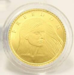 2015 Silver Shield 1/10 Oz Gold Determined Freedom Round - One Tenth Ounce