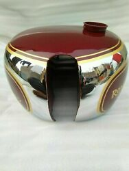 Royal Enfield Jg Models 1946 Chrome And Red Painted Gas Fuel Petrol Tank