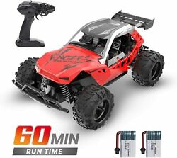 Rc Racing Car 122 High Speed 20 Km/h .4 Ghz Toy Car 2 Batteries 60 Min Play Red