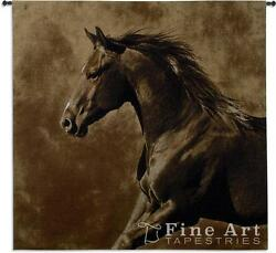 53x51 WESTWARD GALLOP HORSE Western Tapestry Wall Hanging