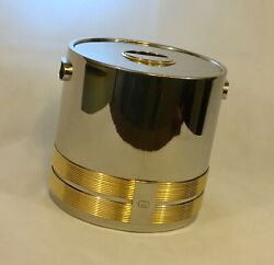 Vintage 70s King Of The Ice Buckets Super Stunning Heavy Chrome Metal