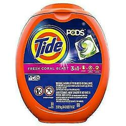 Tide 52881366 Pods 3 In 1 Liquid Detergent Pacs - 81 Count