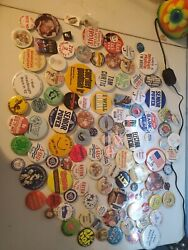 Vintage Lot Of 175+ Movie, Television, Political, Disney, Misc Buttons