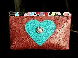 High Cotton Designer Cosmetic Bag Handmade In Texas New No Tags $19.99