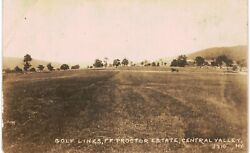 Central Valley Ny Rppc Golf Links Proctor Estate Noko Real Photo Unused Nm