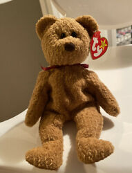 """Ty Beanie Baby """"curly"""" The Bear Rare 1993/1996 And 8 Other Tag Errors"""