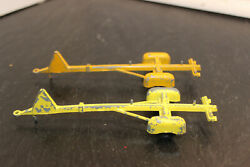 Vintage Tee Nee Tootsietoys Lot Of 2 Chicago Usa Yellow Boat Trailers