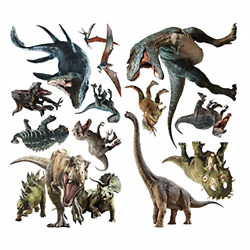 Mendom 3D Watercolour Dinosaur Wall StickersPeel and Stick Removable Wall for