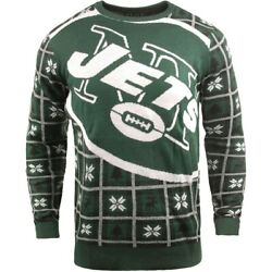 Nfl Ugly New York Jets Sweater Jumper Christmas Style Big Logo 2018 Christmas