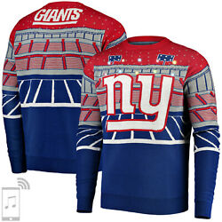 Nfl Ugly Sweater New York Giants Ny Jumper Christmas Bluetooth Led Lighting