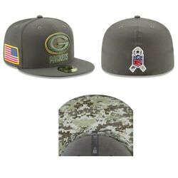 Nfl Baseball Cap Green Bay Packers Salute' To Service 59fifty Fitted Newera Sts