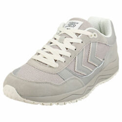 Hummel 3-s Mens Silver Leather And Textile Casual Trainers