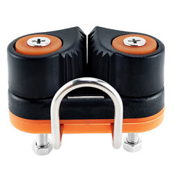 Composite Sailboat 2 Row Ball Bearing Cam Cleat W/ Leading For 3-12mm Rope