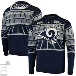 Nfl Ugly Sweater Los Angeles L.a.rams Jumper Christmas Bluetooth Football 18