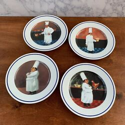 Williams-sonoma Chef Series 11 Dinner Plate Set 4 Pc Guy Buffet Japan Mint