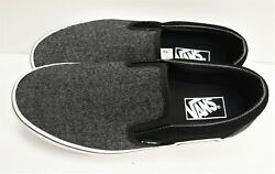 Classic Slip On Suede And Suiting Black Vn0a38f7osn Men's Size 9.5