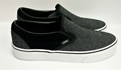 Classic Slip On Suede And Suiting Black Vn0a38f7osn Men's Size 7