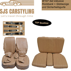 Seat Covers + Back Seat + Seat Belts For Mercedes Sl R/w107, Dattel