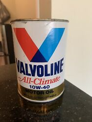 Vintage Valvoline All Climate Full Can 10w 40 Motor Oil 1 Qt Cardboard Can Prop